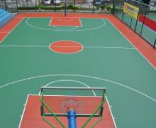贵州篮球场施工:硅PU球场地坪的性能